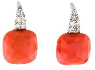 Pomellato 18K Coral & Diamond Capri Earrings