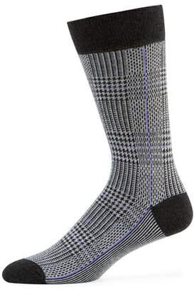 Neiman Marcus Men's Glen Plaid Socks