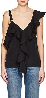 Proenza Schouler Women's Ruffle Silk Blouse - Black