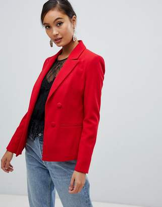Miss Selfridge tailored blazer in red