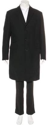 Burberry Wool Notch-Lapel Coat