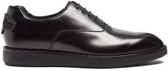 Prada Raised-sole leather oxford shoes