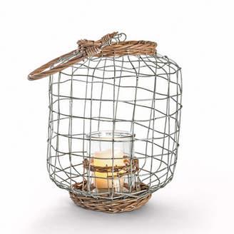 Gerson The Companies Lone Elm Studios Rattan Lantern