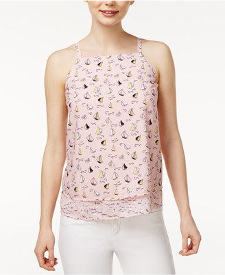 Maison Jules Anchor-Print Layered-Hem Top, Created for Macy's $59.50 thestylecure.com