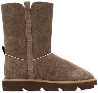 Brunello Cucinelli textured shearling boots