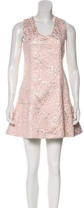 DELPOZO Patterned Mini Dress