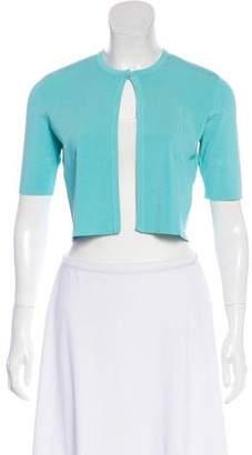 Lela Rose Cropped Short Sleeve Cardigan