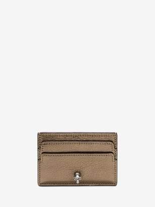 Alexander McQueen Leather Skull Cardholder