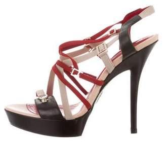 Cesare Paciotti Leather Multistrap Sandals