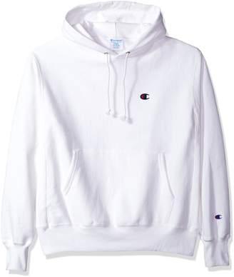 Champion Life Men's Reverse Weave Pullover Hoodie, White/Left Chest C Logo