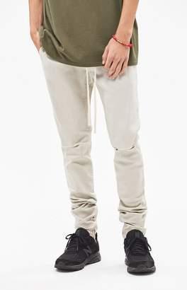 PacSun Drop Skinny Ripped Khaki Denim Jogger Pants