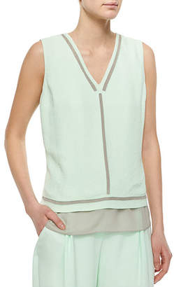 Tahari Woman Herika Sleeveless Striped Top