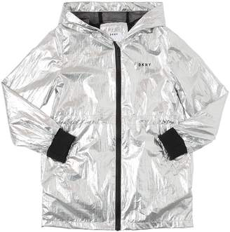 DKNY Metallic Coated Parka
