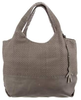 Henry Beguelin Woven Leather Shoulder Bag
