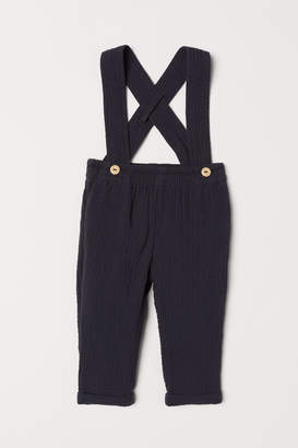 H&M Cotton Pants with Suspenders