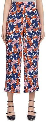 Whistles Damson Floral Print Culottes $180 thestylecure.com