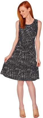 Halston H By H by Petite Printed Knit Tank Dress