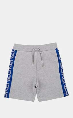 Kenzo Kids' Logo Cotton Drop-Rise Shorts - Gray