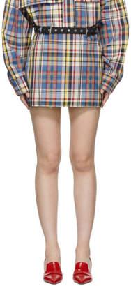 Marques Almeida Multicolor Check Miniskirt