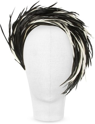 Nana Nana' Aurora - Black and White Feather Headband