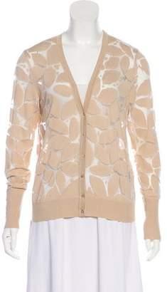 Les Copains Patterned Button-Up Cardigan