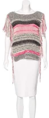 Etoile Isabel Marant Fringe-Trimmed Knit Poncho