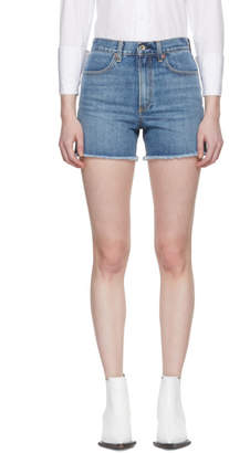 Rag & Bone Blue Denim Torti Shorts