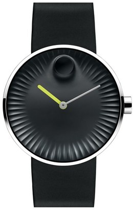 Movado 'Edge' Rubber Strap Watch, 40Mm $495 thestylecure.com