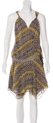 AllSaints Silk Wrap Dress