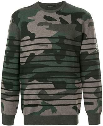 Loveless camouflage striped sweater