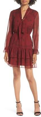BB Dakota Wine Down Print Chiffon Dress