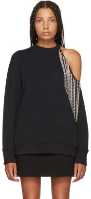 Christopher Kane Black Crystal Cut-Out Sweatshirt