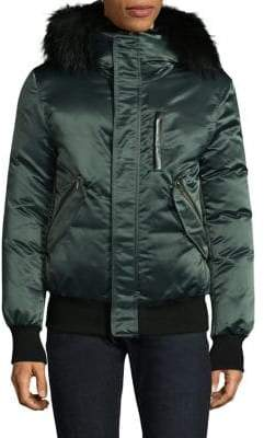 Mackage Satin Bomber Jacket