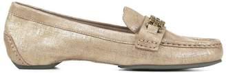Donald J Pliner FATEMA, Distressed Metallic Loafer