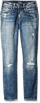 Silver Jeans Co. Women's Mazy High Rise Ankle Skinny