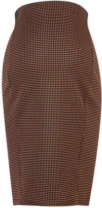 Dorothy Perkins Womens **Maternity Brown Spot Print Jacquard Midi Skirt