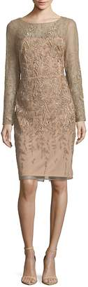David Meister Women's Embroidered Cocktail Dress