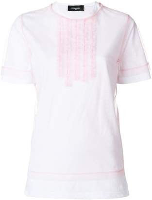 DSQUARED2 ruffle front T-shirt