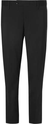 Mr P. Black Cropped Stretch Wool-Blend Trousers