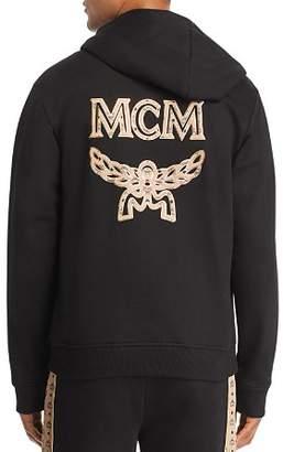 MCM Back Metallic-Trimmed Logo Appliqué Hoodie