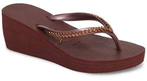 Havaianas High Metal Grega Wedge Flip Flop