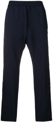 Gucci contrast side stripe straight trousers