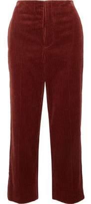 Marni Cropped Cotton-Corduroy Wide-Leg Pants