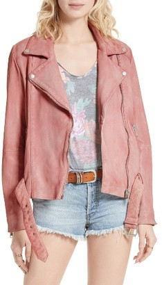 Women's Free People Leather Moto Jacket $498 thestylecure.com