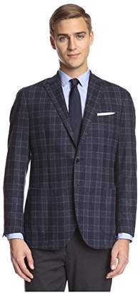 Franklin Tailored Men's White Large Check Sportcoat