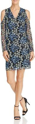 Sam Edelman Embroidered Cold-Shoulder Dress