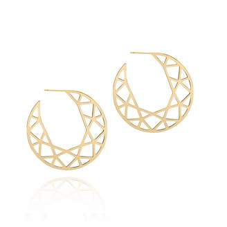 Myia Bonner Gold Brilliant Diamond Hoop Earrings