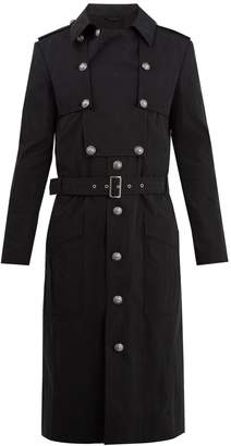 Balmain Belted cotton-blend trench coat