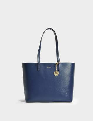 DKNY Bryant Large Tote Bag in Navy Sutton Textured Leather