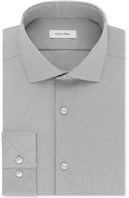 Calvin Klein Men Steel Slim-Fit Non-Iron Stretch Performance Unsolid Dress Shirt